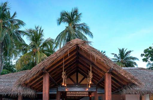 Herzlich Willkommen auf Malahini, Rezepetion, Malahini Kuda Bandos, Malediven