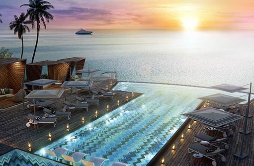 Hauptpool, JW Marriott Maldives