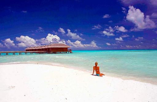 Entspannen am Strand, Medhufushi Island Resort, Maldives