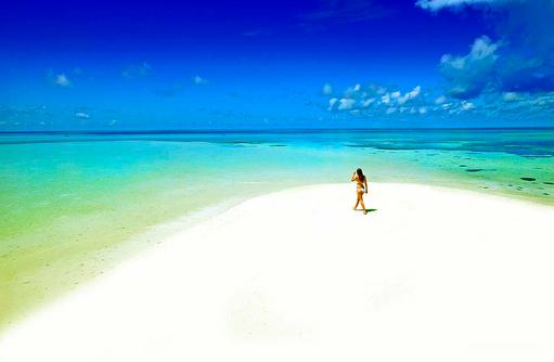 Strandbild, Medhufushi Island Resort, Maldives
