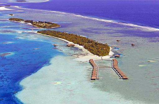 Inselwelt von oben, Medhufushi Island Resort, Maldives