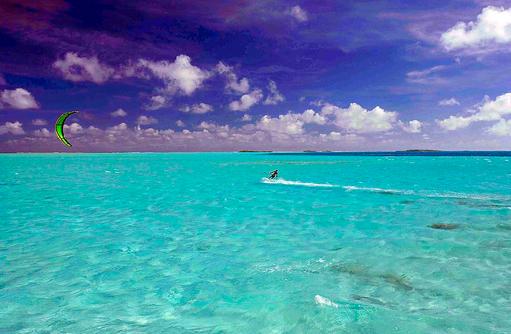Kitesurfen, Medhufushi Island Resort, Maldives