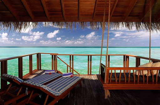 Terrasse Water Bungalow, Medhufushi Island Resort, Maldives