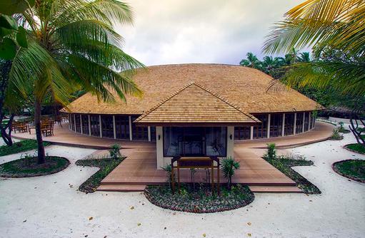 Aussenansicht Farivalhu Buffet Restaurant, Meeru Island Resort