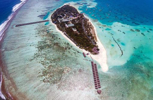 Luftaufnahme, Drohnenaufnahme, Atoll, Meeru Island Resort