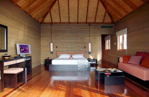 Jacuzzi Water Villa, Schlafen, Wohnen, Meeru Island Resort