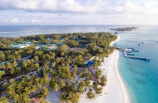Drohnenaufnahme, Meeru Island Resort