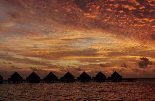 Sonnenuntergang, Mercure Maldives Kooddoo Resort