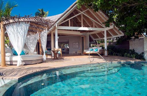 Beach Pool Villa, Daybed, Pool, Privatsphäre, Milaidhoo Island, Maledives