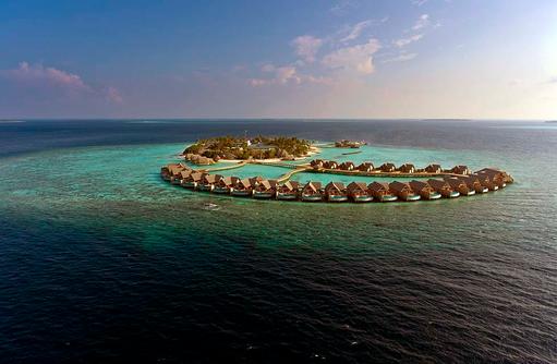 Vogelperspektive, Milaidhoo Island, Maledives