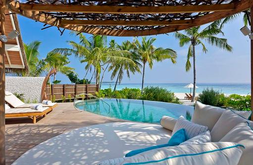 Beach Pool Villa, direkte Strandlage, Milaidhoo Island, Maledives