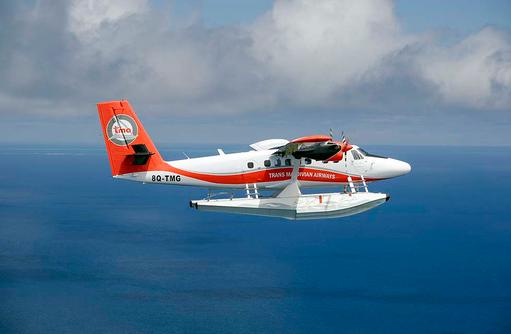 Wasserflugzeugtransfer, Milaidhoo Island, Maledives