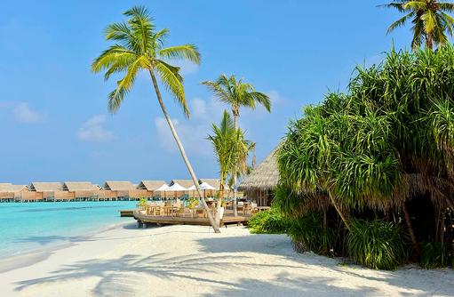 Ocean Restaurant, Blick vom Strand, Milaidhoo Island, Maledives