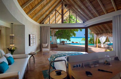Beach Pool Villa, Wohnen und Schlafen, Milaidhoo Island, Maledives
