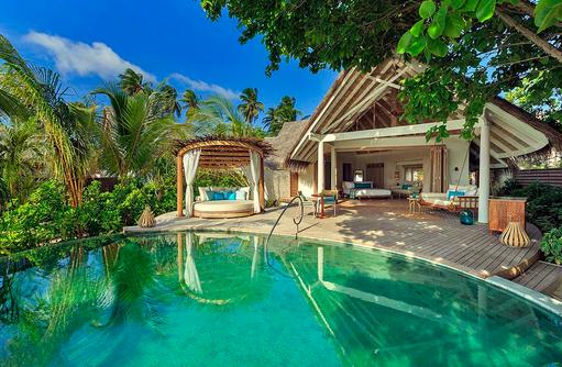 Beach Pool Villa, Sonnendeck, Pool, Milaidhoo Island, Maledives