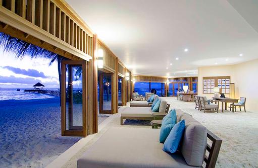 Rezeption, Lounge, Mirihi Island Resort, Malediven
