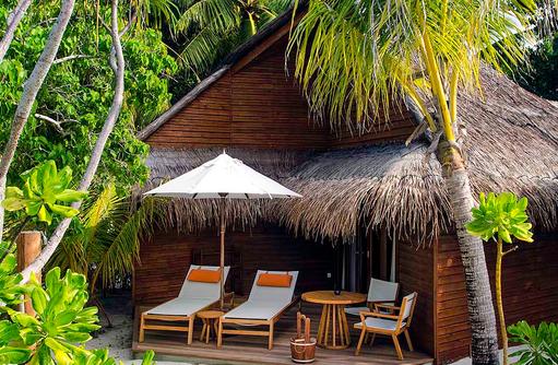 Beach Villa, Aussenansicht, Mirihi Island Resort, Malediven