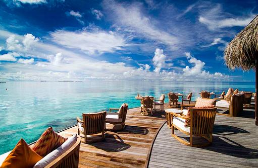 Muraka Restaurant, Terrasse, Mirihi Island Resort, Malediven
