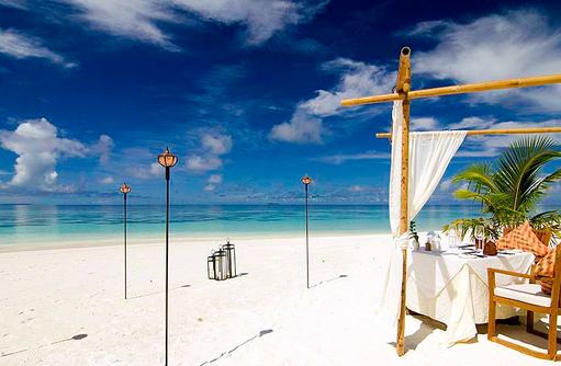 privates Beach Dinner, Dinner am Strand, Mirihi Island Resort, Malediven