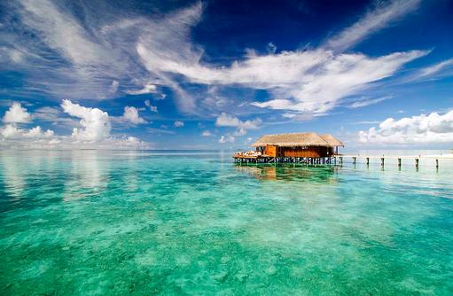 Muraka Restaurant, Aussenaufnahme, Mirihi Island Resort, Malediven