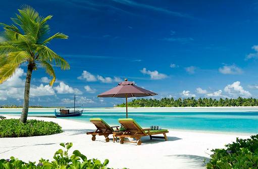 Lagune vom Naladhu Private Island Maldives