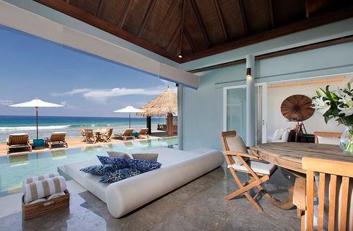 Wohnraum in der Residence, Naladhu Private Island Maldives