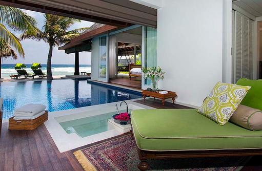 Offenes Bad vom Ocean House, Naladhu Private Island Maldives