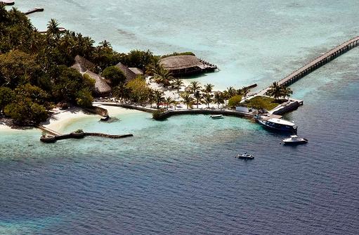 Luftaufnahme der Insel, Nika Island Resort & Spa