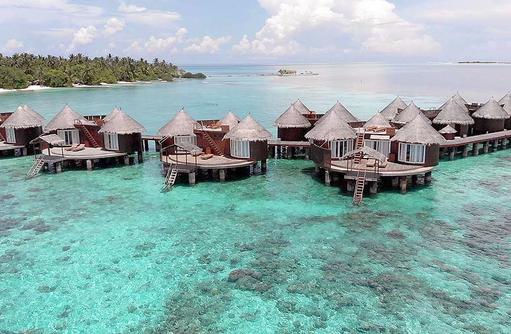 Frontaufnahme Wasser Villas, Nika Island Resort & Spa