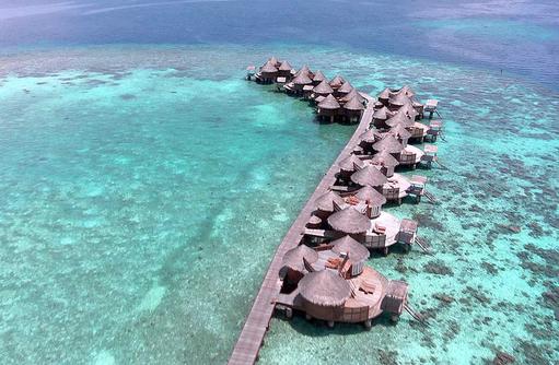 Steg Wasservillas, Luftaufnahme, Nika Island Resort & Spa