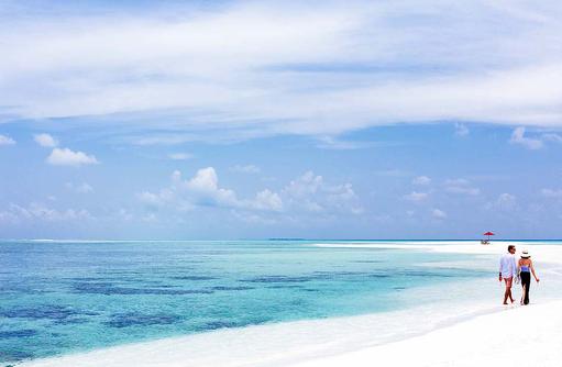 Sandbank, Spaziergang im weißen Sand, Niyama Private Islands Maldives