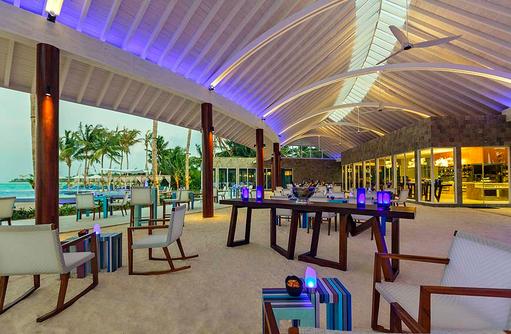 Blu Restaurant, Dämmerung, Niyama Private Islands Maldives