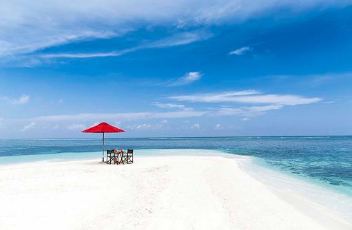 Sandbank Dinner, Romantisch, Zweisamkeit, Niyama Private Islands Maldives