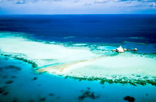 Edge Restaurant, Blick aus der Luft, Niyama Private Islands Maldives