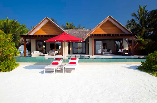 One Bedroom Beach Pavillon with Pool, Frontansicht, Strandzugang, Niyama Private Islands Maldives