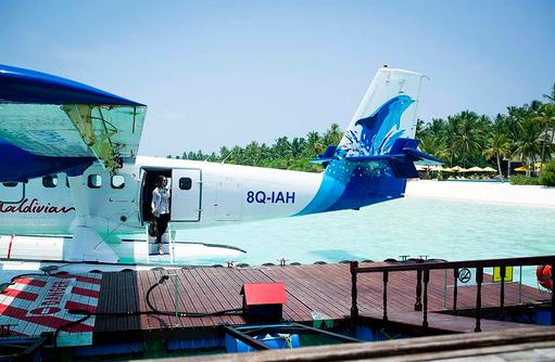Ankunft mit Wasserflugzeug, Willkommen, Niyama Private Islands Maldives