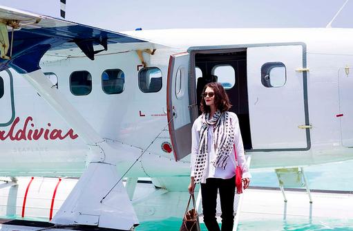 Ankunft mit Wasserflugzeug, Niyama Private Islands Maldives
