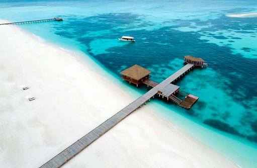 Drohnenfoto Steg, Noku Maldives