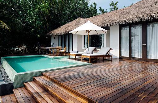 Terrasse, Beach Villa Pool, Noku Maldives