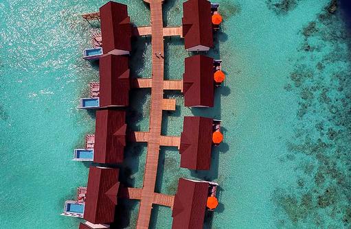Water Villa Pool, Luftaufnahme, OBLU SELECT at Sangeli