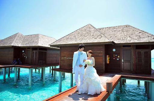 Braut und Bräutigam, Olhuveli Beach & SPA Resort