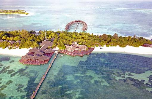 Blick auf den Steg von oben, Olhuveli Beach & SPA Resort