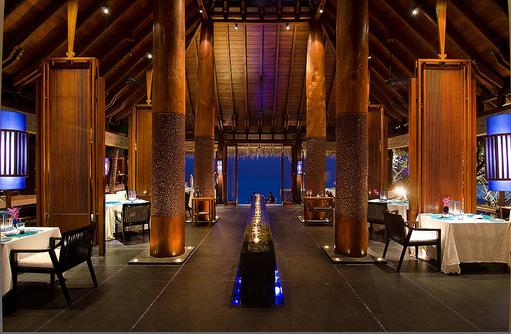 Reethi Restaurant, Aqua, One & Only Reethi Rah, Maldives