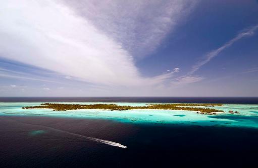 Vogelperspektive, Blaue Lagune, One & Only Reethi Rah, Maldives