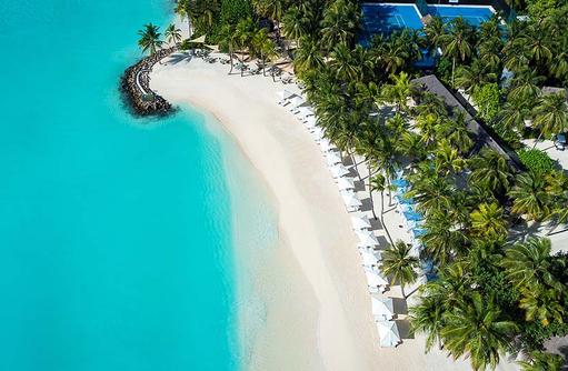 Club One, Beach Club, Ansicht von oben, One & Only Reethi Rah, Maldives