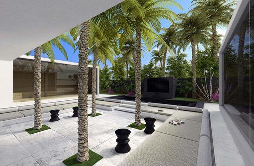 Spa, Innenhof, One & Only Reethi Rah, Maldives
