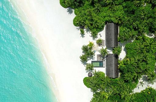 Two Villa Residence, Ansicht von Oben, One & Only Reethi Rah, Maldives