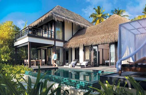 Außenbereich, Poolvilla, Outrigger Konotta Maldives Resort