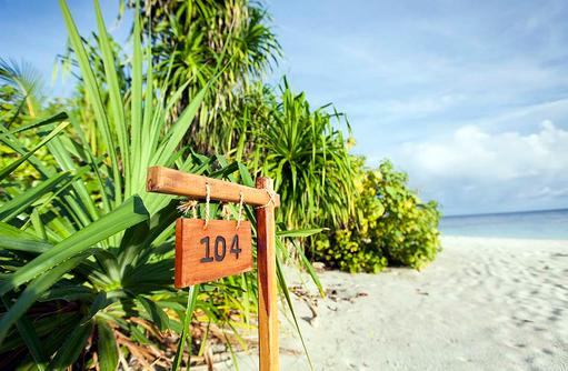 Beach Villa, Zimmernummer, Outrigger Konotta Maldives Resort