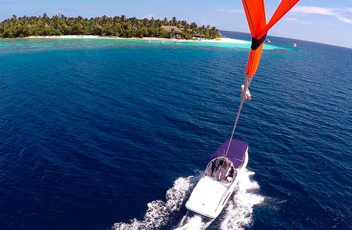 Parasailing, Outrigger Konotta Maldives Resort